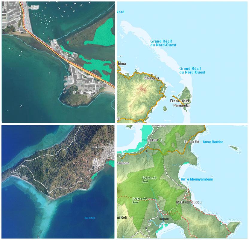 Plateforme de biodiversité sur l'île de Mayotte, développée dans le cadre du SINP Réunion