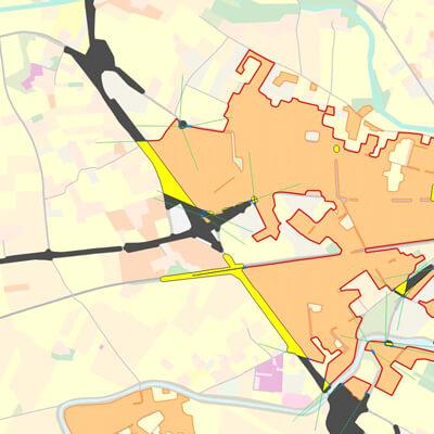 Etape de création d'une tache urbaine à partir de données MOS
