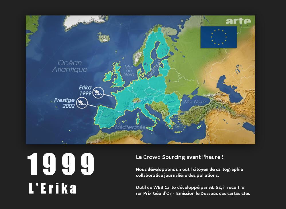L'Erika 1999 projet Alisé géomatique